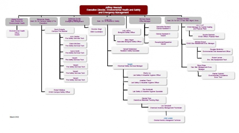organizational chart environmental health amp safety