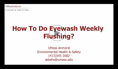 Video showing how to do weekly flushing of eyewashes