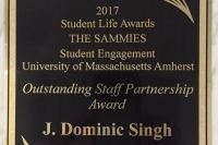 Dominic Singh receives SAMMIE award