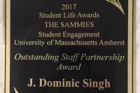 Dominic Singh receives SAMMIE award
