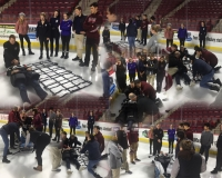 Athletic Trainers and EMTs practice care skills on the ice