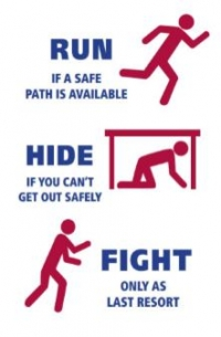 RUN HIDE FIGHT safety protocol